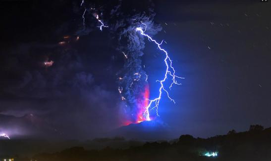 raio vulcao