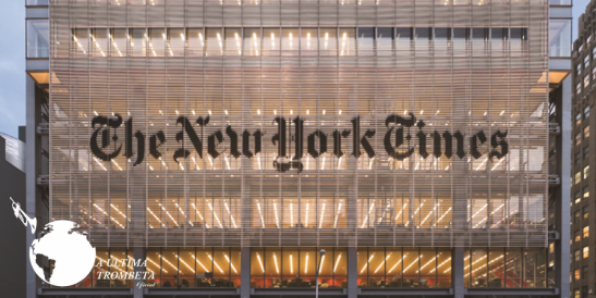 Fachada do The New York Times