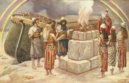Sacrificio de Noé apos Dilúvio í  Õ Ô Ó õ  ô ó  Ú ú